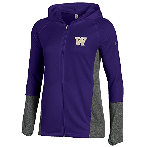 - Under Armour Adult NCAA Women's French Terry Full-Zip, Purple, Large