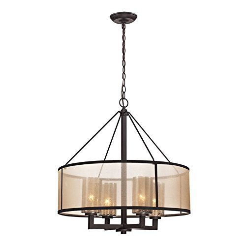 Elk Lighting 57027/4 Diffusion Collection 4 Light Chandelier, Oil Rubbed Bronze from ELK Lighting