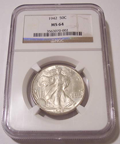 1942 Walking Liberty Half Dollar MS64 NGC
