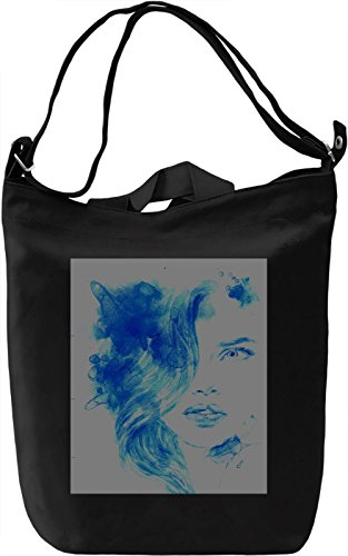 Woman Portrait Borsa Giornaliera Canvas Canvas Day Bag| 100% Premium Cotton Canvas| DTG Printing|
