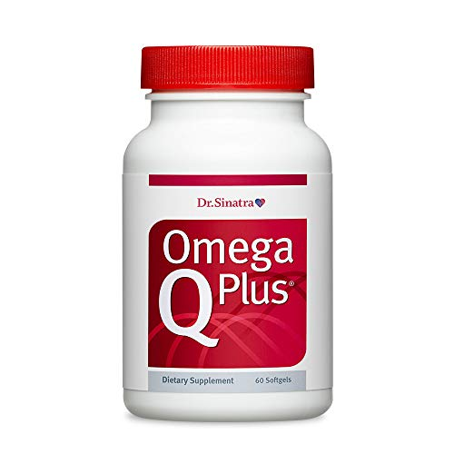 Dr. Sinatras Omega Q Plus- Omega-3 and CoQ10 Supplement Delivers Everyday Heart Health Support with 50 mg of CoQ10 for Healthy Blood Flow, Blood Pressure, and Provides Antioxidant Power (60 softgels)