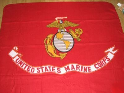 Marine Corps Polar Fleece Blanket - Globe & Anchor