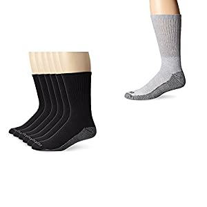 Dickies Dickies Men's Dri-Tech Work Crew Socks One Size Black/Grey 10-13 Sock/6-12 Shoe