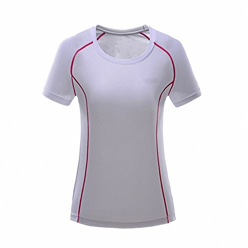 Maoko Women's Sports T Shirts- Polyester Short Sleeve Crew Shirt for - Solid Gold Hk