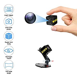 Mini Spy Camera 1080P Hidden Camera, Small Spy Camera with Audio and Video Recording, Surveillance Camera Nanny Camera Spy Cam Night Vision & Motion Detection for Security Outdoor Indoor