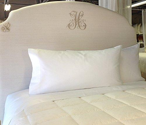 Pandora de Balthazar European Luxury Bedding King Sheet Set, White, 600TC