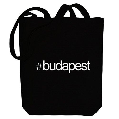 Idakoos Capitals Bag Hashtag Canvas Tote Budapest Budapest Hashtag Idakoos 7FXzvdq