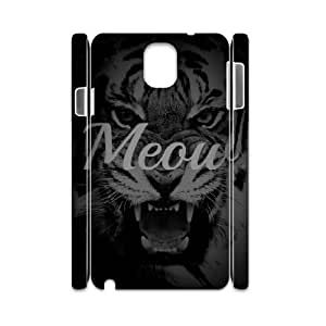 3D Samsung Galaxy Note 3 Case Meow, Samsung Galaxy Note 3 Case Typography, [White]
