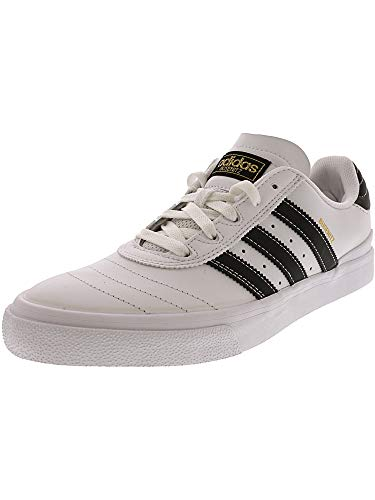adidas Skateboarding Men's Busenitz Vulc Footwear White/Core Black/Gold Metallic 8 D US