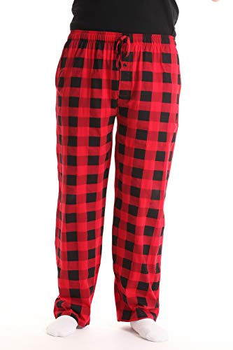 At The Buzzer Mens Buffalo Plaid Pajama Pant 14505-1A-RED-2XL ()
