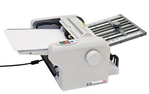 MBM 87M Tabletop Friction Folder, Speed 7,200 sheets/hour, 2 fold speeds (100 or 120 sheets per minute), Automatic stop when last sheet is (Friction Feed Paper Folder)
