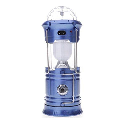 jiayit 3 In1 Camping Flashlight Multi-purpose Lantern Portable Collapsible LED Hiking Night Light Lamp (Blue)