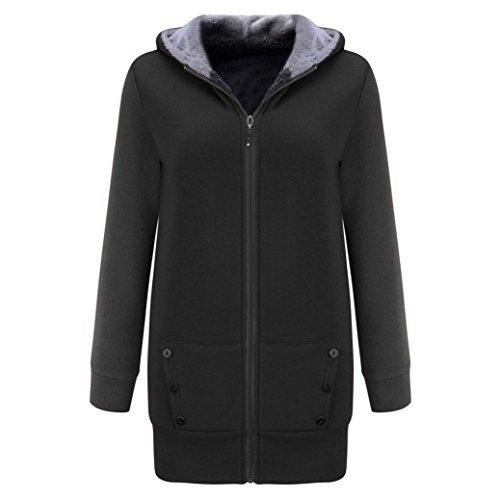 Gray Overcoat Thicker Womens M Casual Gray Jacket Winter Coat Coats Deep Velvet Hooded Deep Warm Sweatshirt wwZvpgq