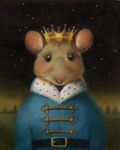 Mouse King Print - Nutcracker Art - Christmas Mouse - Mouse Portrait Print - Mouse King Art - Nutcracker Ballet - Mouse Art - Mouse Painting - Mouse Print