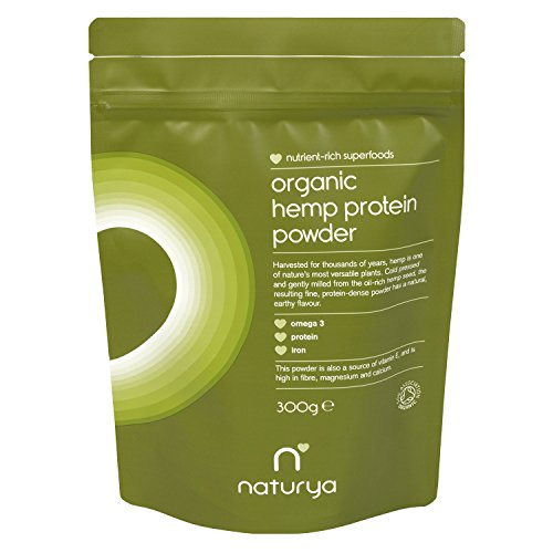 Naturya Organic Hemp Protein Powder 300gm/10.58 Oz Superfood Increases Energy, Vitality and Well Being Nutritional Power Food