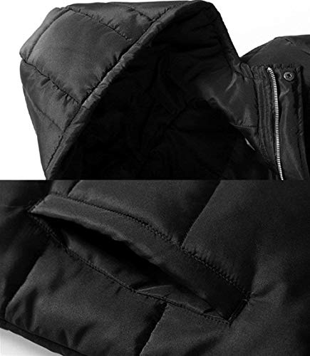 Winter Coat Down Waterproof Quilted Soft Hooded Windproof Men's Outwear Leisure BoBoLily Parka Warm Schwarz Warmth Jacket Thicken Long Padded Anwq5XFY