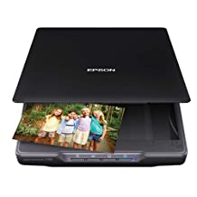 Epson Canada Perfection V39 Colour Photo and Document Scanner with Scan-To-Cloud, 4800 by 4800 DPI, Black, B11B232201