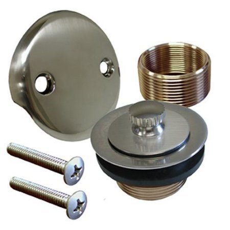 Satin Nickel Bathtub Tub Drain Trim Assembly Kit, (Delta Stopper Assembly Toe)