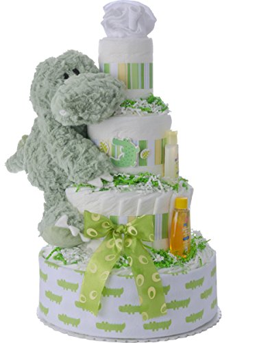 Lil' Baby Cakes Alan the Alligator Diaper Cake by Lil' Baby Cakes