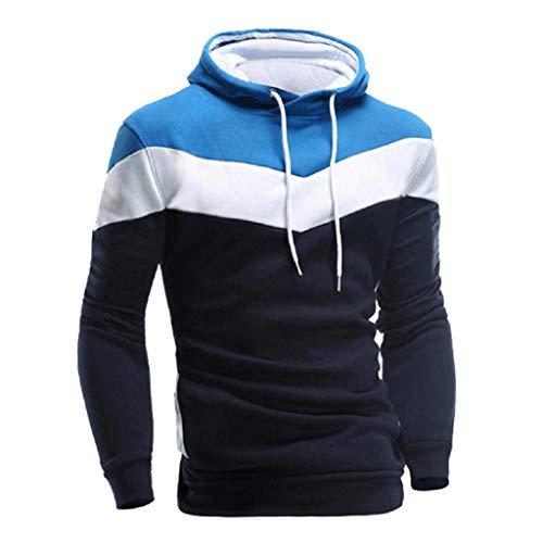 (REYO Men's Jackets Casual Sale, Men Retro Long Sleeve Hoodie Hooded Sweatshirt Tops Jacket Coat Outwear Navy)