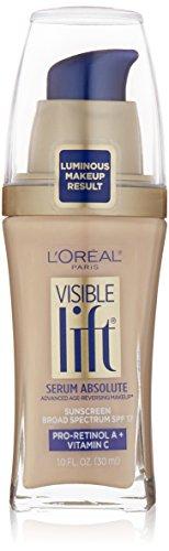 Lift Serum (L'Oréal Paris Visible Lift Serum Absolute Foundation, Soft Ivory, 1 fl. oz.)