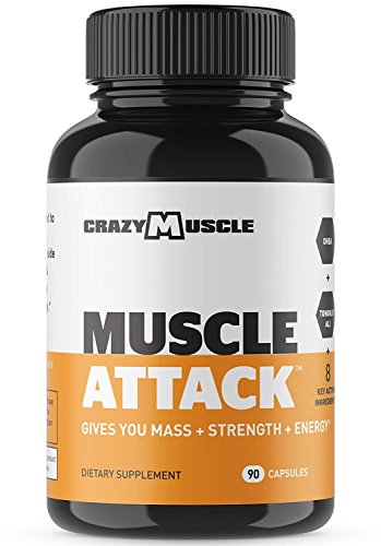 Muscle Attack is a Powerful DHEA Supplement that Boosts Testosterone, Maintains it and Protects against Side Effects by Crazy Muscle – 90 Tablets
