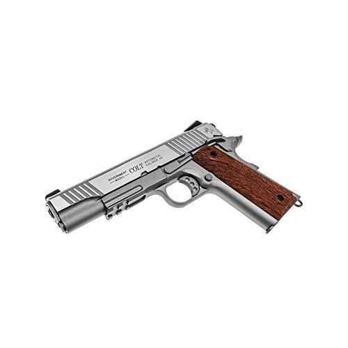 Cybergun Colt 1911 Rail Gun Stainless Co2 Réplique puissance 0.5 joules 2