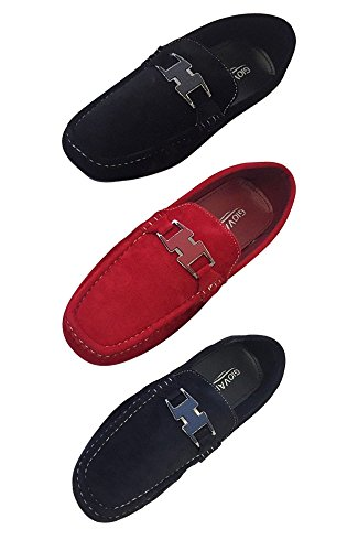 Flash Apparel Men's Giovanni Loafer Dress Shoes Shoes Shoes Italian Style Casual Slip On Black Red Navy Blue M15-46 B077H5MN25 Shoes e51b0b