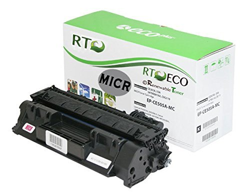 Renewable Toner 05A CE505A MICR Toner Cartridge for Check Printing compatible with HP LaserJet P2035 P2055
