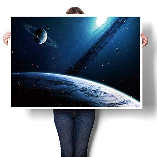 SCOCICI1588 Wall Paintings deep Space Art nebulas Planets Galaxies and Stars in Composition Awesome for Wallpaper Oil Painting,36