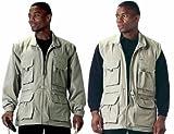 Khaki Convertible Safari Outback Trailblazer Jacket and Vest 7590 Size Medium