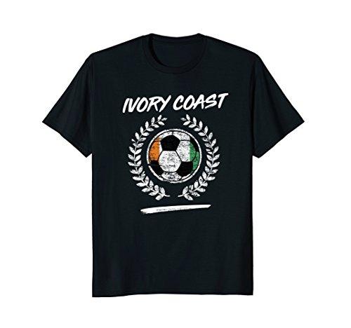Ivory Coast Flag T-Shirt Ivorian Soccer Team Football -