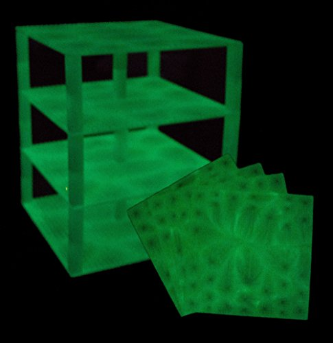 Premium Glow in the Dark Stackable Base Plates - 4 Pack 10
