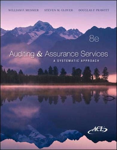 Auditing & Assurance Services: A Systematic Approach, 8th