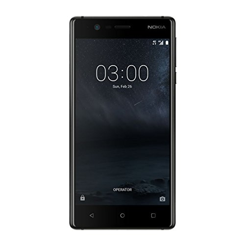 ed05a04c521363 Nokia 3 UK-SIM Free Smartphone - Black: Amazon.co.uk: Electronics