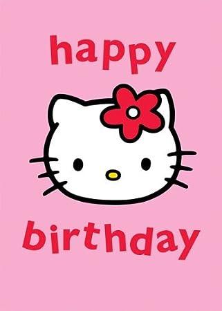 hello kitty happy birthday greetings card amazon co uk office