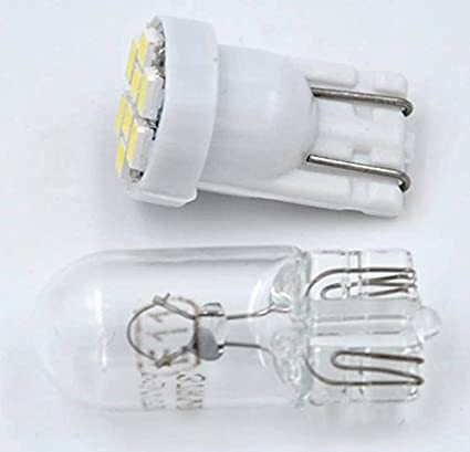 Cutequeen 10PCS LED Car Lights Bulb White T10 2835 4-SMD 160 Lumens 194 168 pack of 10