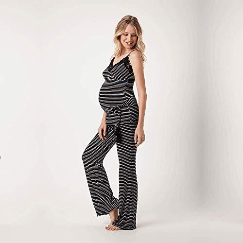35a740aa1 Pijama Longo Malha Caribe Maternidade