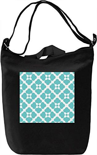 Blue Print Borsa Giornaliera Canvas Canvas Day Bag| 100% Premium Cotton Canvas| DTG Printing|