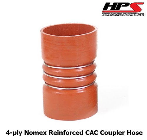 HPS CAC-400-L8-HOT Silicone High Temperature 4-ply Aramid Reinforced Charge Air Cooler CAC Hose Hot Side, 100 PSI Maximum Pressure, 8