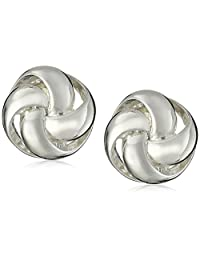 """Anne Klein""""Classy Clippers"""" Silver-Tone Knot Clip-On Earrings"""