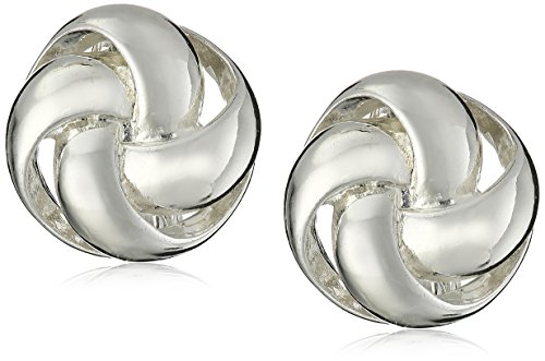 Anne Klein''Classy Clippers'' Silver-Tone Knot Clip-On Earrings by Anne Klein