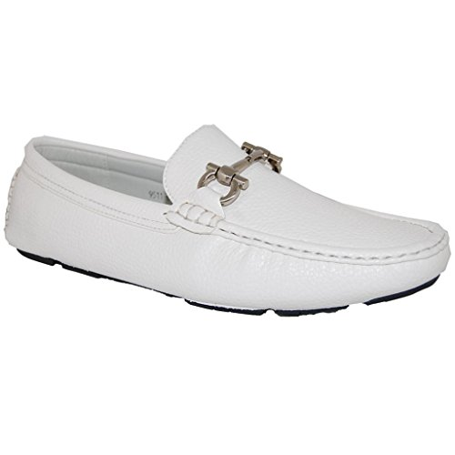 White Slip On Men's Loafers for Miami Vice costume