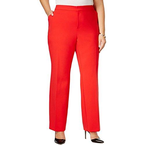 Inc Womens Plus Regular Fit Flat Front Dress Pants Red 22W (Inc Dress Pants)