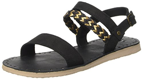 UGG Women's Elin Flat Sandal, Black, 10 US/10 B (Ugg Women Sandals)