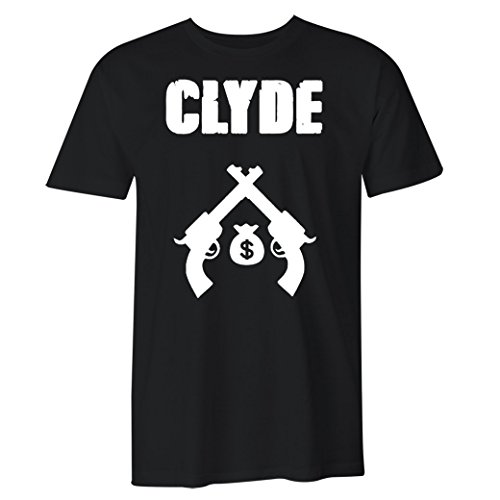 Fantastic Tees Bonnie and Clyde Matching Couple T Shirts (2XL, Men-Clyde)