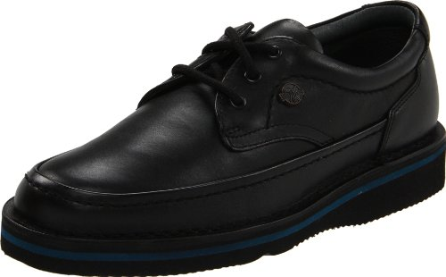 Hush Puppies Mens Mall Walker Oxford In Pelle Nera