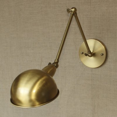 hua Aged Brass 1 Light Swing Arm Wall Sconce ()