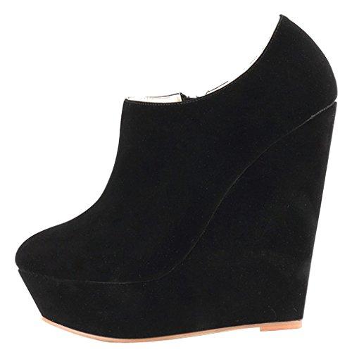 Damen Stiefeletten MERUMOTE 028 Heels Zipper High Side Plattform Y Schuhe wAZdqAS