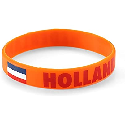 Komonee Netherlands Orange World Cup Olympics Silicone Wristband Pack Estimated Price £2.45 -